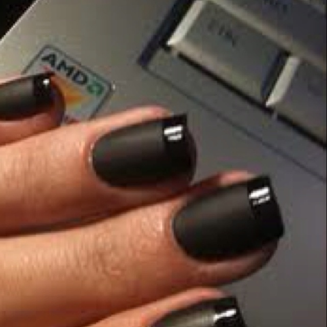 The only problem with matte polish is if you don't have a matte top coat, it only last like 5 minutes