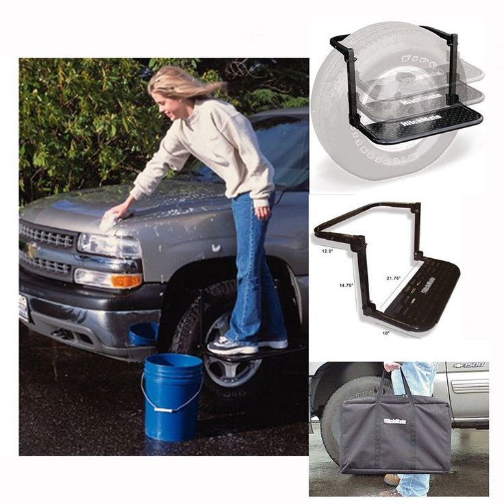Heininger HitchMate TireStep Truck SUV RV Tire Mounted Adjustable Step Portable #Doesnotapply