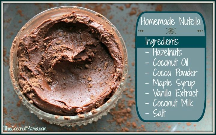 I love this recipe for homemade nutella! It's not quite the same as the real stuff, but it's a great healthier alternative made with wholesome real-food ingredients! Homemade Nutella Ingredients 1 Cup Hazelnuts, roasted 1 1/2 Tablespoons Coconut Oil 3 Tablespoons Cocoa Powder 1/3 Cup Maple Syrup 1/2 Tablespoon Vanilla Extract 1/4 -1/2 Cup Coconut …
