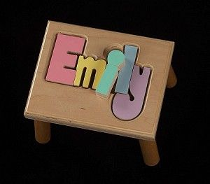 139 best gifts for babies and children images on pinterest baby name puzzle stool the monogram merchant negle Image collections