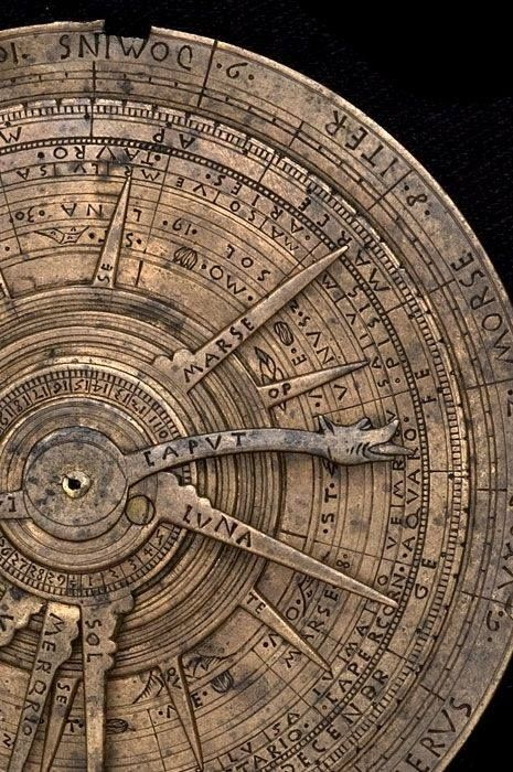 ollebosse:  Astrolabe and Astrological Volvelle, Italian, later 15th century – marcin arena