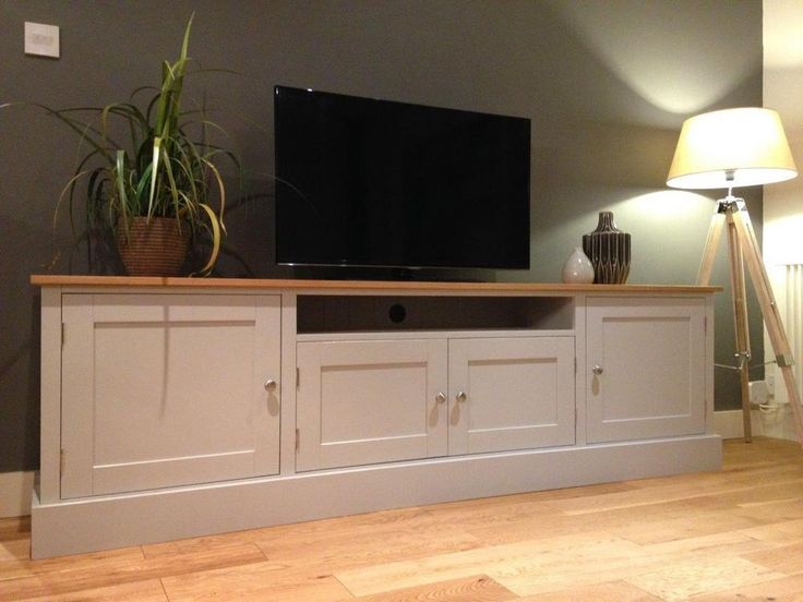 New Solid Pine & Oak 7ft TV Unit Stand Cabinet Painted Shabby Chic Sideboard in Home, Furniture & DIY, Furniture, TV & Entertainment Stands | eBay!