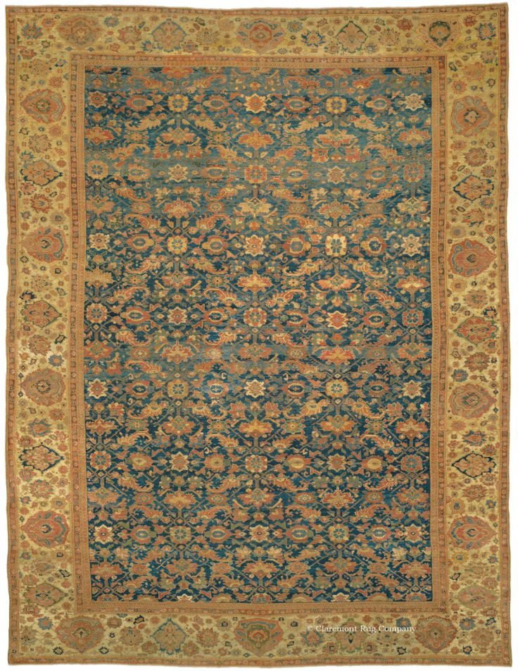 ZIEGLER SULTANABAD, West Central Persian 13ft 0in X 17ft 7in 3rd Quarter,  19th Century. Rug CompanyOriental ...