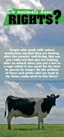 Do animals have rights? -esite on saatavilla vain pdf -muodossa http://www.oikeuttaelaimille.net/sites/default/files/materiaalit/esitteet/do-animals-have-rights.pdf