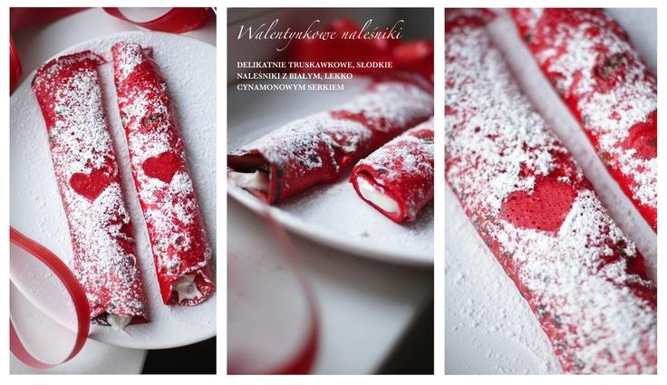 Truskawkowe naleśniki ze słodkim serkiem/ strawberry pancakes with sweet cheese