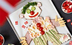 Pålægskagemand Pålægskagemanden gør det sjovt for børnene at spise sundt.