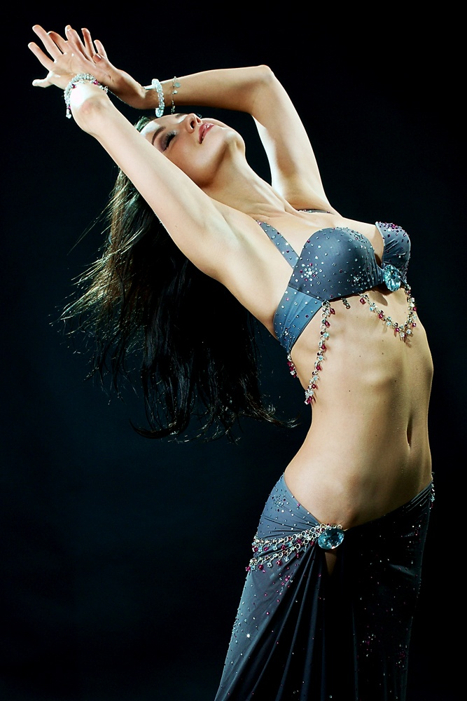 Topless belly dancers