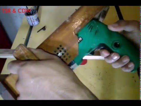 Modifikasi Bor listrik menjadi Mesin profil /Trimer /hand router - YouTube