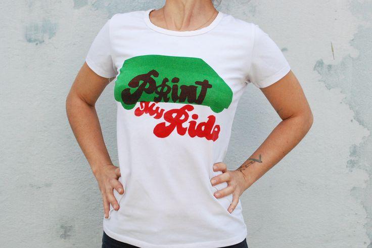 Print my ryde - serigrafia em T-shirt - Ana Torrie 2014