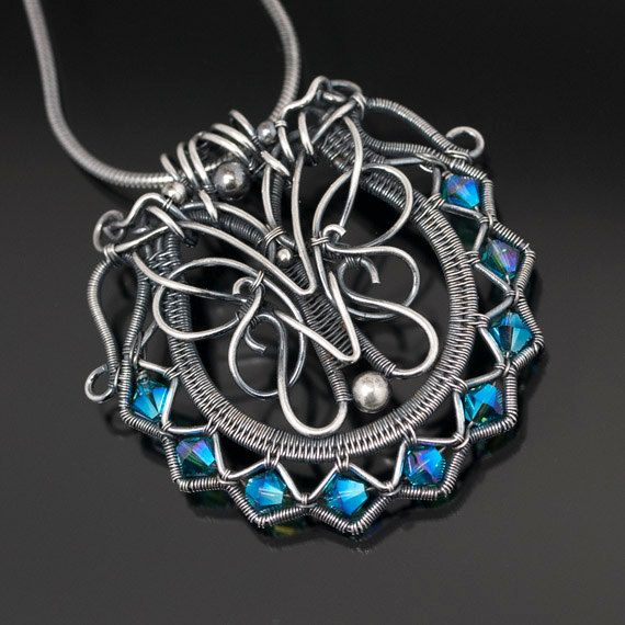 The Beading Gem's Journal: Woven Wire Work Jewelry by SarahnDippity