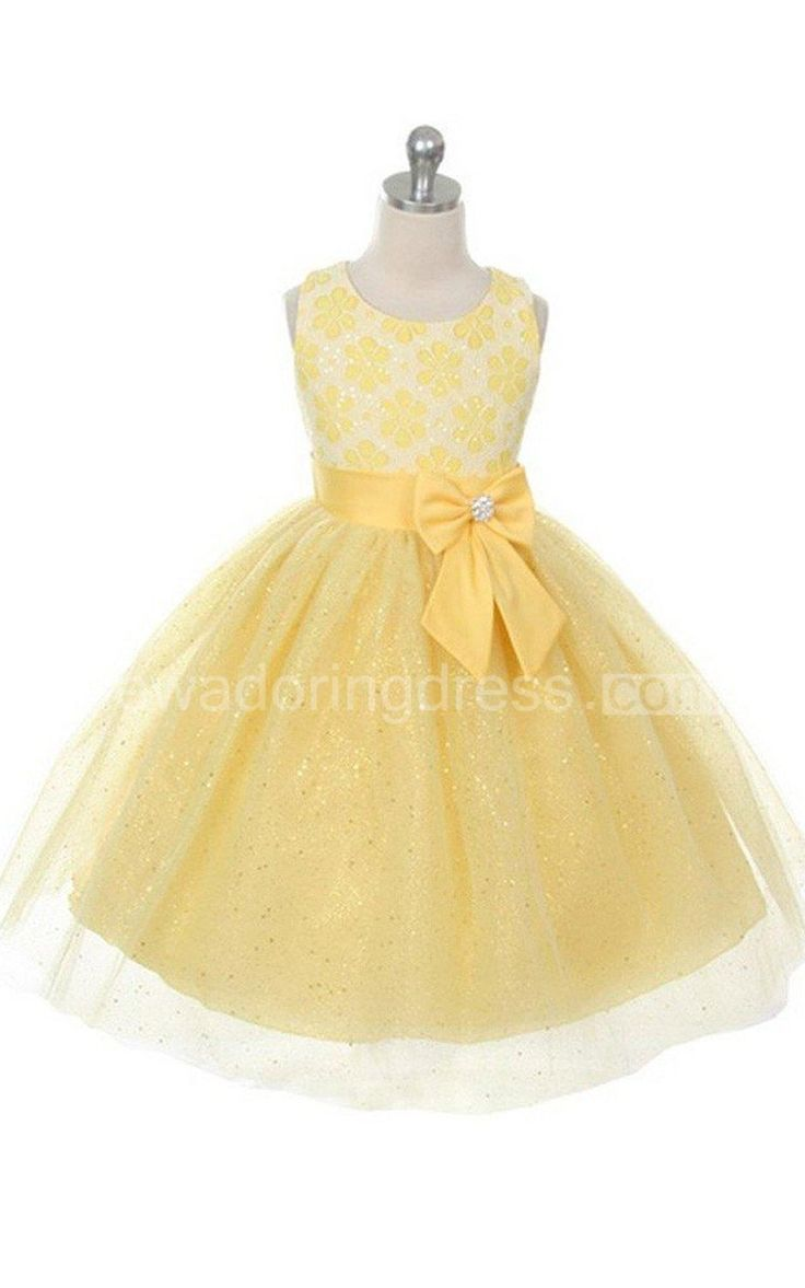 US$51.75-Sleeveless Scoop Neck A Line Yellow Flower Girl Dress With Bow. http://www.newadoringdress.com/sleeveless-scoop-neck-a-line-dress-with-sequins-and-bow-p400423.html. Shop for best flower girl dress, baby girl dress, girl party dress, gowns for girls, dresses for girl, children dresses, junior dress, pageant dresses for girls We have great 2016 fall Flower Girl Dresses on sale. Buy Flower Girl Dresses online at NewAdoringDress.com today!