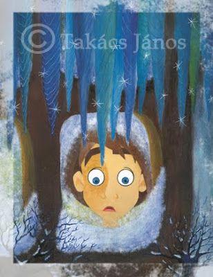 #illustration #boy #winter by Janos Takacs