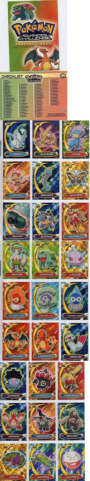 Pok mon Complete Sets 104046: Complete Topps Pokemon Advanced Challenge Set! 90 New From The Pack Cards! -> BUY IT NOW ONLY: $36.79 on eBay!