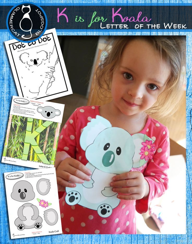 FREE Koala craft.  The other activities are also available in our letter of the week packet.