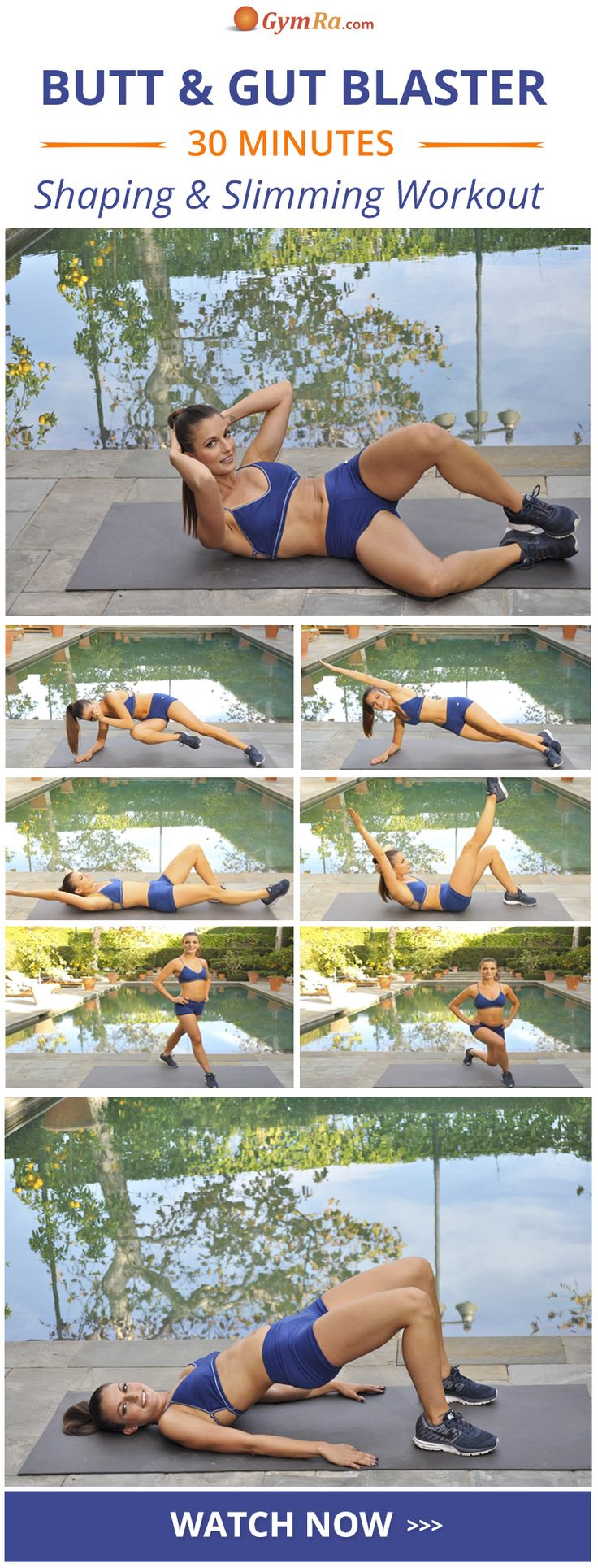 These at home glutes and abs exercises are perfect for sculpting and trimming your both your mid-section & lower body. Build a better booty & a sculpted waist in no time by doing this workout 3-4 times a week on non-consecutive days.