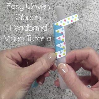 Really Reasonable Ribbon's Ramblings!: Easy Woven Ribbon Headband Video Tutorial
