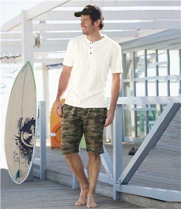 Bermuda Molleton Camouflage #travel #voyage #atlasformen #formen #discount #shopping #ootd #outfit #formen #hommes #man #homme #men