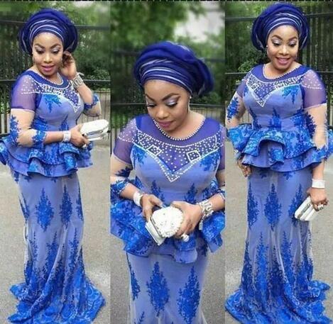 Nigerian Plus Size Evening Dresses