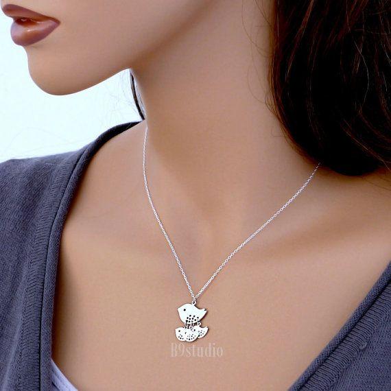 Moeder vogel ketting cadeau familie sieraden sterling