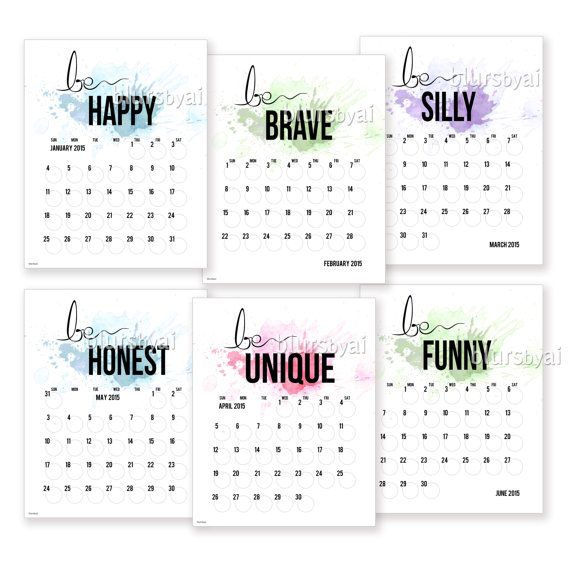 Calendar Inspiration 2015 : Printable calendar planer quot be you