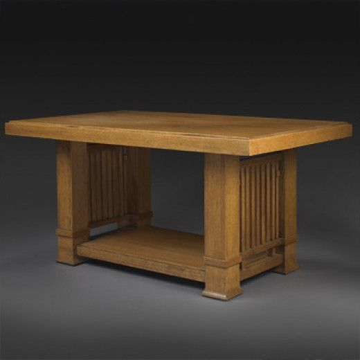 192: Frank Lloyd Wright In Collaboration With George Mann Niedecken / Table  From The Gilmore