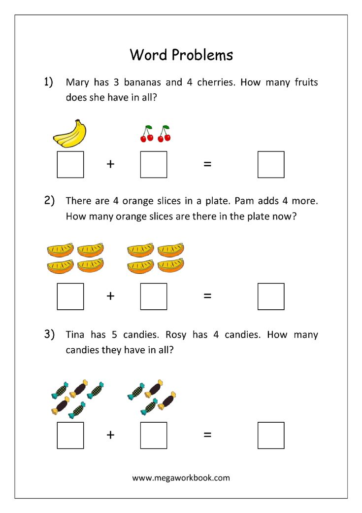 Free Math Worksheets - Word Problems For Addition and ...