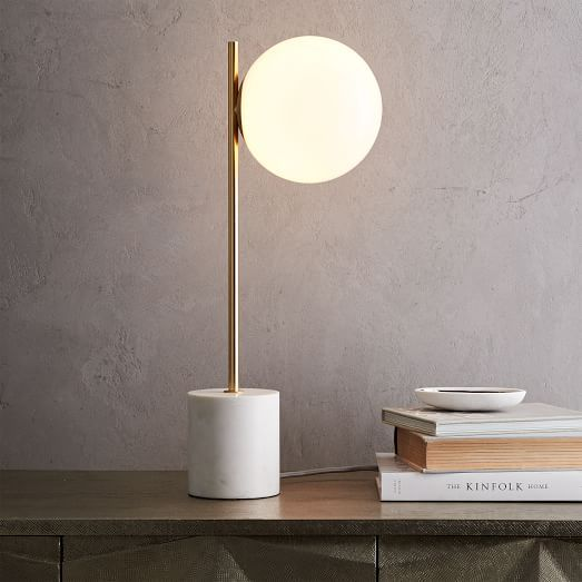 I know WE copied Michael Anastassiades' lighting here, but almost irresistable -- Sphere + Stem Table Lamp | west elm