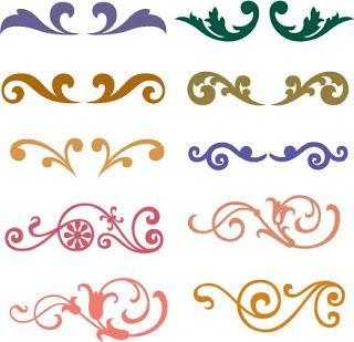 Free SVG Flourish   royal icing piping figures & patterns   royal icing design pattern  