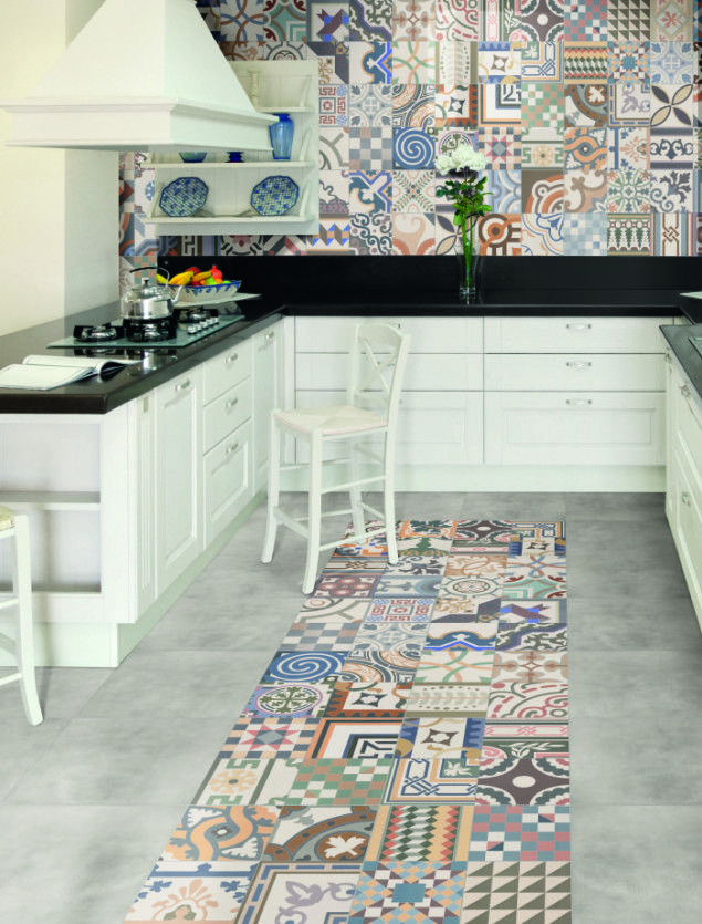 Zellij Patchwork Tiles from Walls and Floors