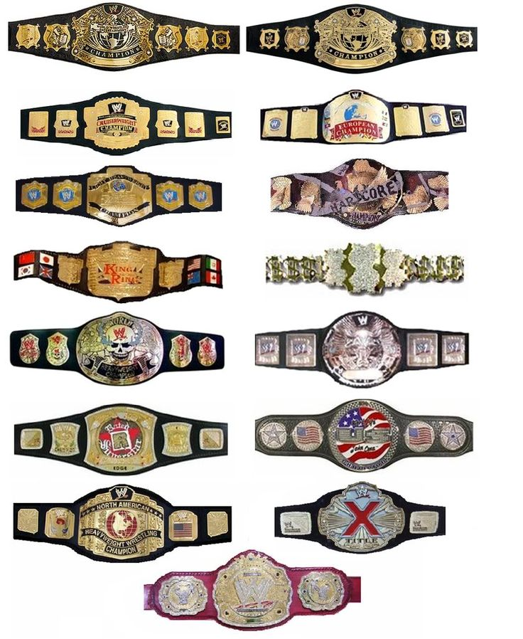 List This Is Some Of Wwe Past Title Belt Design Pinterest
