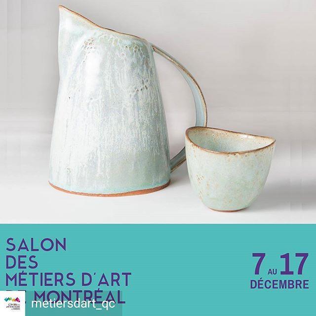 Merci @metiersdart_qc pour cette publication!  Ce sera mon premier Salon des Métiers d'Art cette année et j'ai bien hâte d'y être!  It's gonna be my first Salon des métiers d'art! I can't wait to be there!  #monpremiersmaq #ceramic #ceramiclicious #gres #stoneware #glaze #handcrafted #madeinmontreal #nadiartisteceramiste #ceramique #pottery #ceramist #faitmain #salondesmetiersdartsdemontreal #smaq #centredeceramiquebonsecours