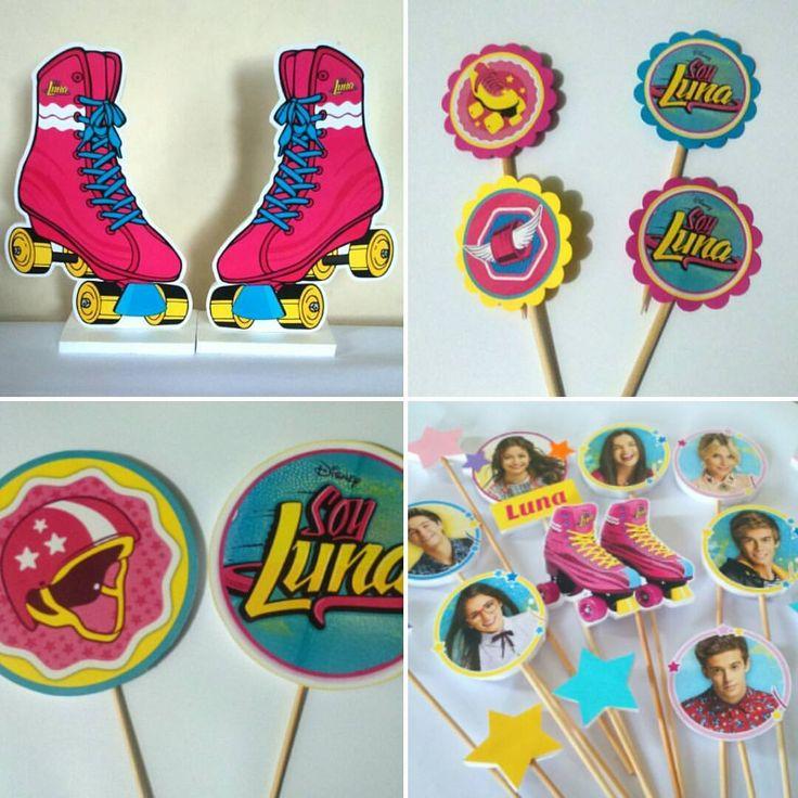 Detalles #soyluna para decorar en tus #fiestas  tenemos #apliques #toppers para #cupcakes para la # - wonderfulartdetails