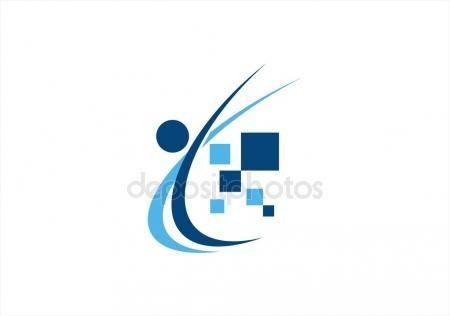 #People #abstract #blue #education #business #figure #health #work  #computing #data #digital #illustration #symbol #icon #vector #design - https://depositphotos.com/portfolio-3904401.html?ref=3904401