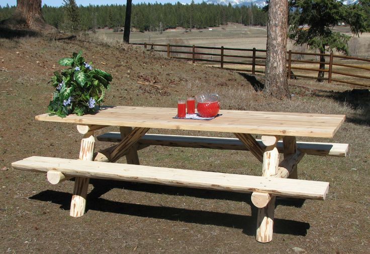 Hand Made Picnic Tables Lodgepole Pine A Dense