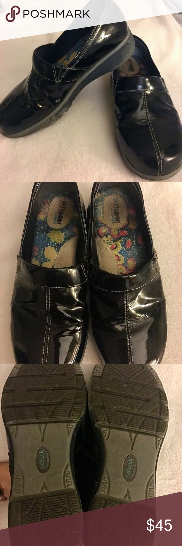 Grey's Anatomy Meredith softwalk nursing shoe/clog Grey's Anatomy black patent leather softwalk nursing shoe/clog. Size 9. The style is Meredith and it is a slip on. This shoe is in EXCELLENT condition!! Can use a slight cleaning but look almost new from the outside. Very comfortable and a must have if you work a job that requires you to stand on your feet all day! This shoe costs over 100$ so get this price while you can! SoftWalk Shoes