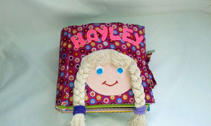 Little girls's quiet book unique handmade, busy book, felt book, personalized by BabamBabywearing on Etsy