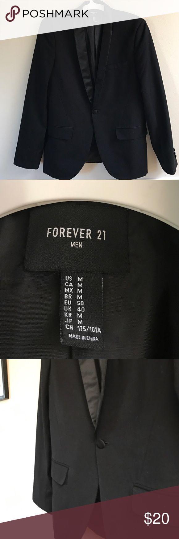 Blazer Type : blazer , brand  : Forever 21  color :black , size : M Forever 21 Suits & Blazers Sport Coats & Blazers