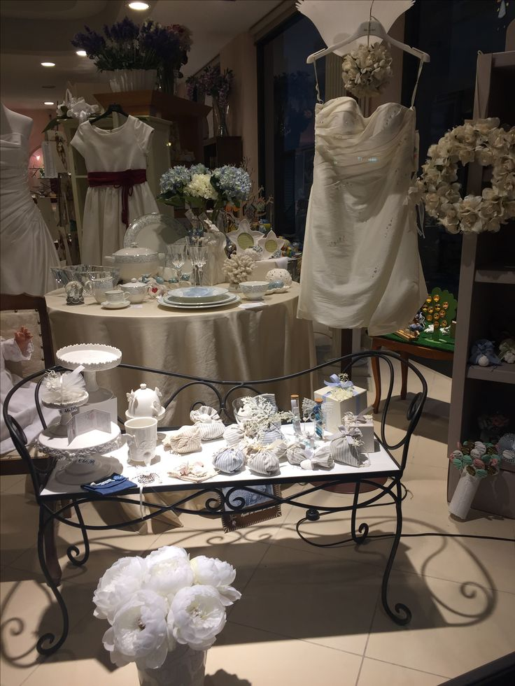 vetrina di Bomboniere per matrimonio, comunione e anniversario. Tante idee