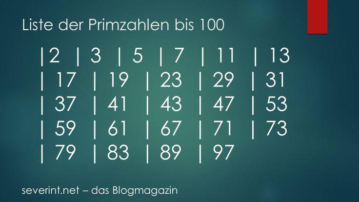 Liste der Primzahlen bis 100