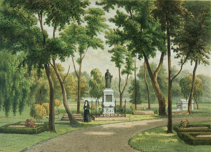 Josias Cornelis Rappard - Monumen untuk pastur Van der Grinten di pemakaman Belanda di Tanah Abang, Jakarta