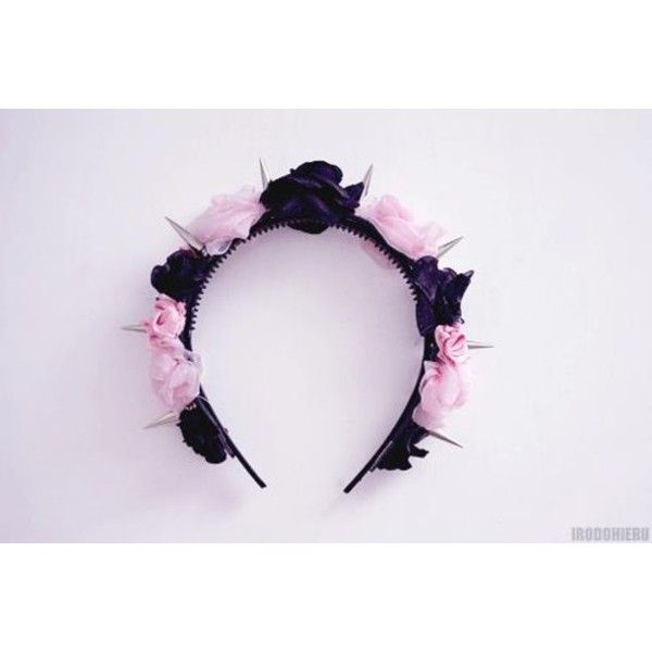 Hat: rose flower crown pastel goth hair accessory ❤ liked on Polyvore featuring accessories, hair accessories, pastel, pastel goth, pink, gothic hair accessories, rose hair accessories, flower crown, floral crown and flower garland