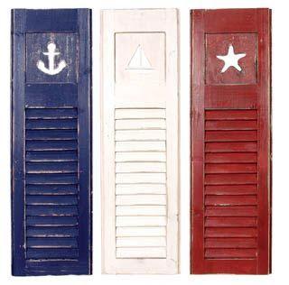 Nautical Home Decor cute reused shutters