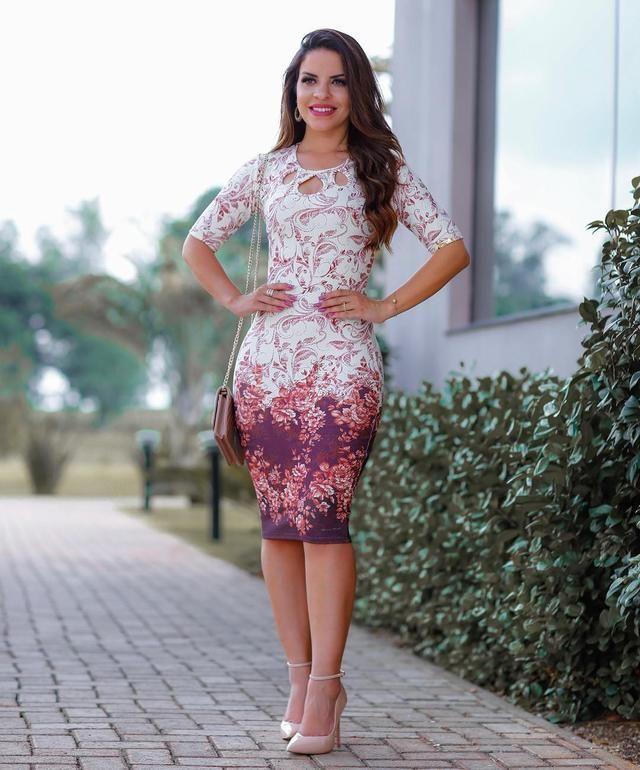 2f984509d Vestido Tubinho Florido, Muito Elegante! | Evangélico em 2019 ...