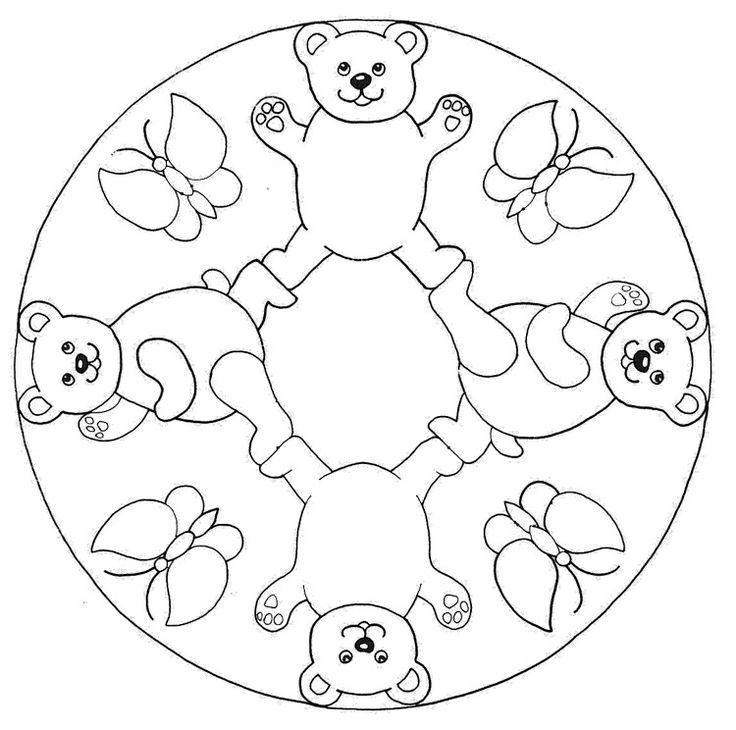 herbstmandalaskinderbaerenschmetterlinge  mandala