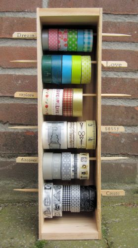 How to keep your washi tape à voir si possible avec mes boites bois pour vin