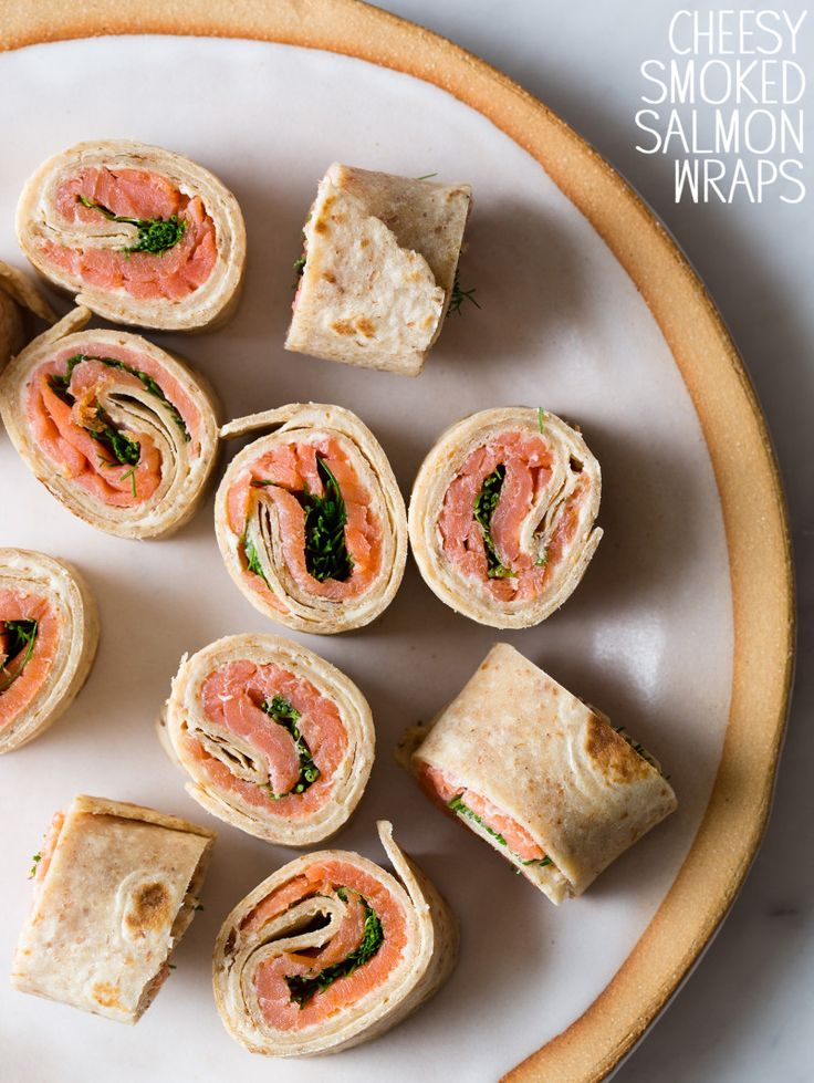 Cheesy Smoked Salmon Wraps