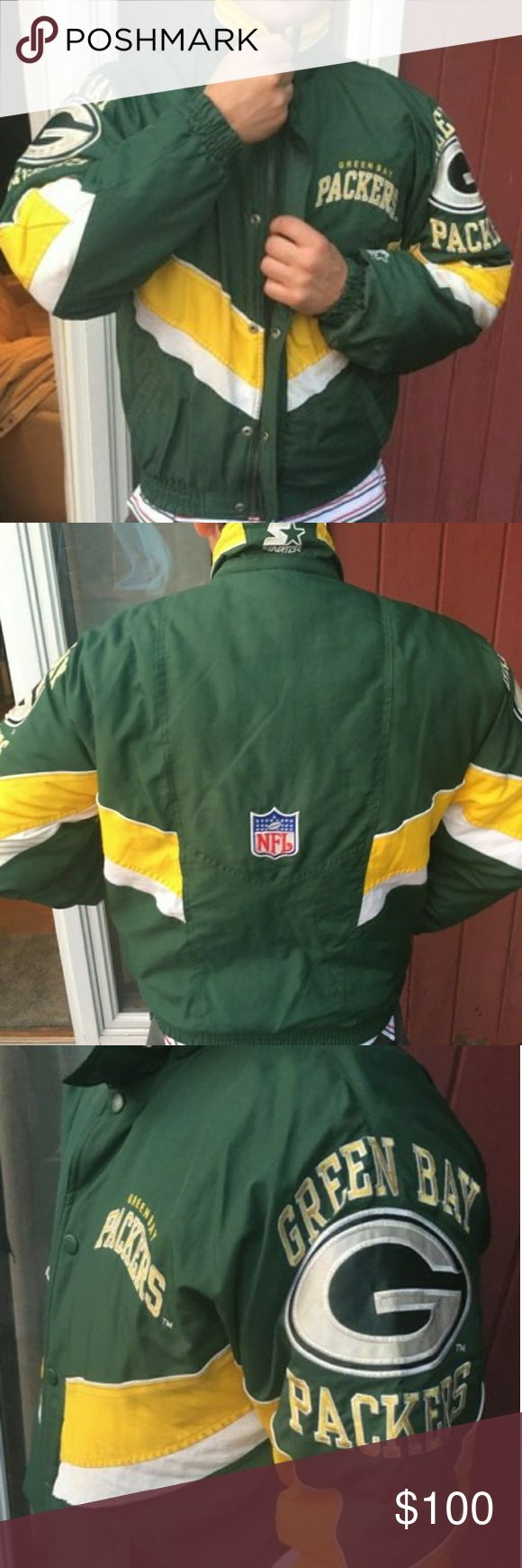 Starter Mens Green Bay Packers Football Jacket VINTAGE GREEN BAY PACKERS JACKET  New Without Tags  Mens Size Small Starter Jackets & Coats