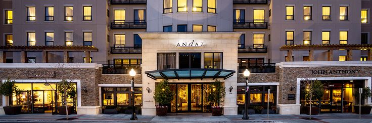 Andaz Hotel, downtown Napa;  Millenials are loving it.  Save for Jill