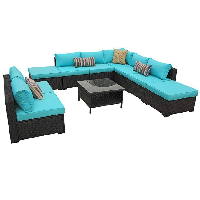 Amazon Com Rattaner 10 Piece Patio Sectional Furniture Set