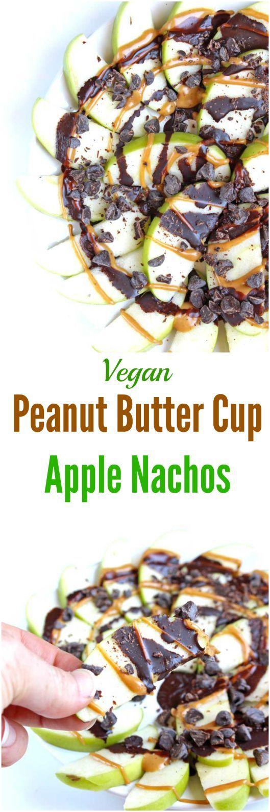Peanut Butter Cup Apple Nachos [Vegan]